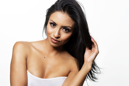 sexy latina: Beautiful womans face and hair