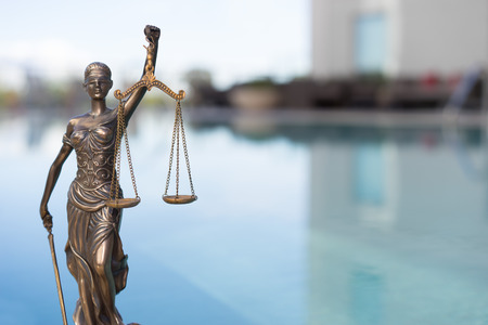 Legal law concept image. Scales of justice 스톡 콘텐츠
