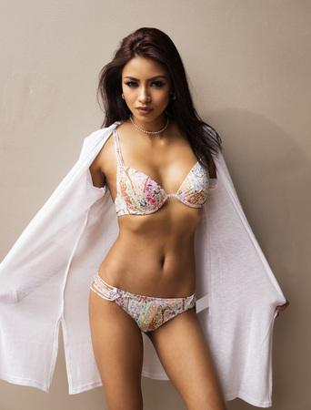sexy latina: Beautiful woman wearing bikini swimwear