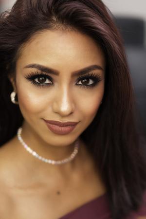 sexy latina: Beautiful face of young woman