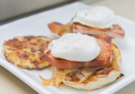 Poached Eggs Benedict breakfast