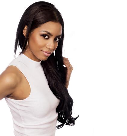 sexy latina: Beautiful woman long hair