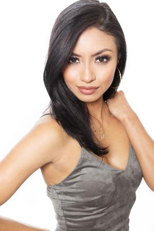 sexy latina: Beautiful elegant woman in dress