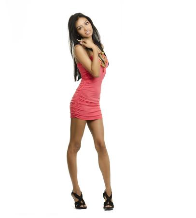 Beautiful young woman wearing dress 写真素材