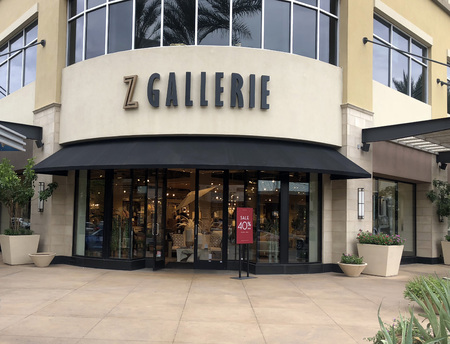 Scottsdale,AzUSA - 6.15.18: Z Gallerie is a home furnishing art & decorative accessory retail store based out of Los Angeles, California. This store chain has over 57 retail store locations.
