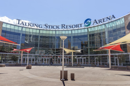 Phoenix,AzUSA - 9.26.18  Talking Stick Resort Arena is home to the Arizona Rattlers, Phoenix Suns and Phoenix Mercury, located in downtown Phoenix, it also hosts major recording artists concerts.