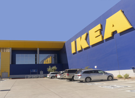 Tempe,AZUSA - 9.25.18: Ikea is a Swedish-founded multinational group founded in 1943 by then-17-year-old Ingvar Kamprad.  Ikea designs and sells ready-to-assemble furniture and accessories. Editorial