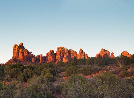 Sedona glows at sundown, Arizona
