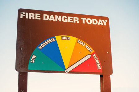 Fire Danger Today Signage very high to Extreme warning.