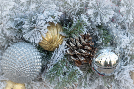 Christmas decoration ornament background Imagens - 114817925