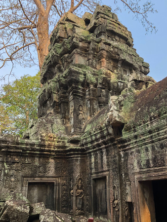 Angkor Cambodia Ancient wall Temples background and exotic travel imagery Imagens - 121101275