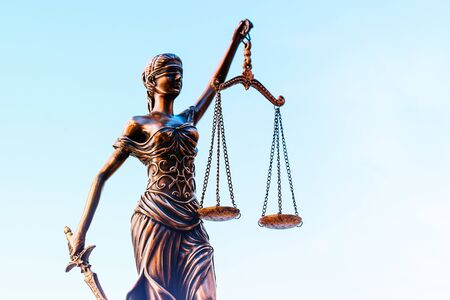 Scales of Justice and gavel legal law concept imagery