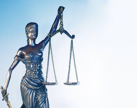 Imágenes del concepto de la balanza de la justicia y el derecho legal de martillo Foto de archivo