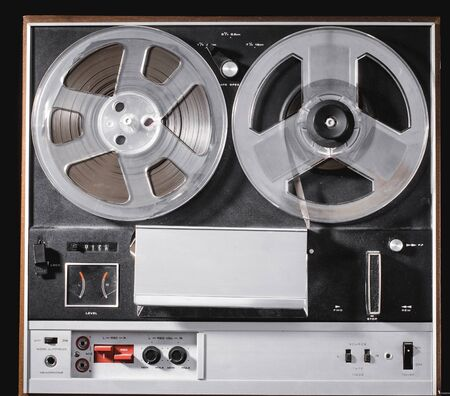 Old reel to reel tape recording equipment