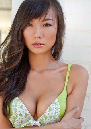 Beautiful woman wearing fashionable underwear
