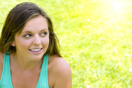 Pretty girl on a summer day Stock Photo - 4874394