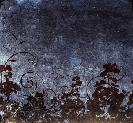Grungy floral wallpaper with swirls Stock Photo - 4883594