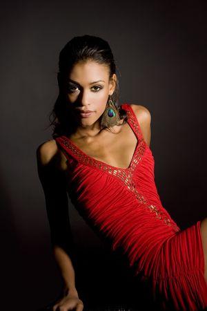 Beautiful exotic woman - dramatic lighting