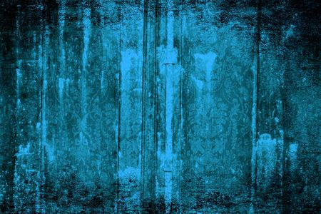 Grungy Victorian turquoise wallpaper background Stock Photo - 4924016