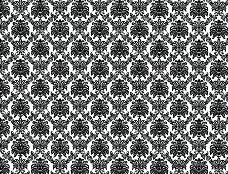 Black and white Victorian wallpaper