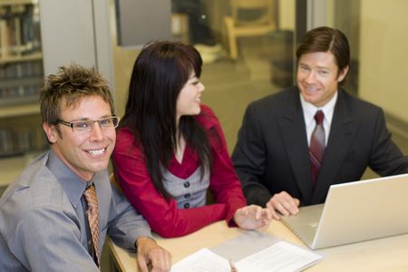 Group of diverse business people having a meeting Stock Photo - 5065226
