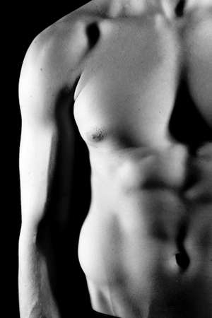 Attractive fit man without his shirt Stock Photo - 4949915