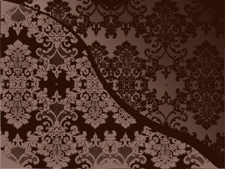 Delicate lacy Victorian pattern in sepia photo