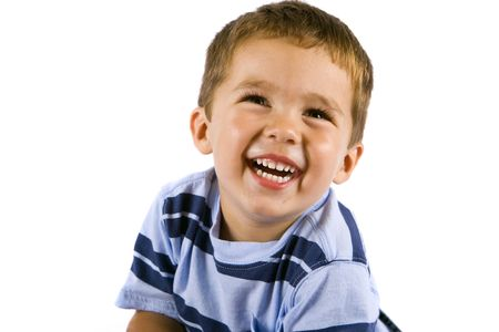 Cute little boy isolated on white Stock Photo - 5305437