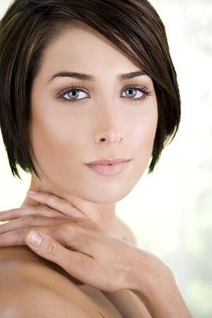 Closeup Portrait einer schönen Frau