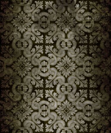 grungy: Old grungy intricate background pattern