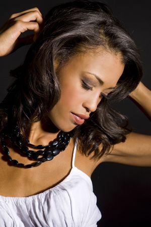 Portrait einer schönen exotischen Frau