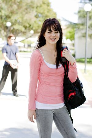 studygroup: Young student at a university Stock Photo