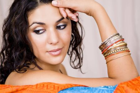 portrait of beautiful young exotic woman Stock Photo - 5413213