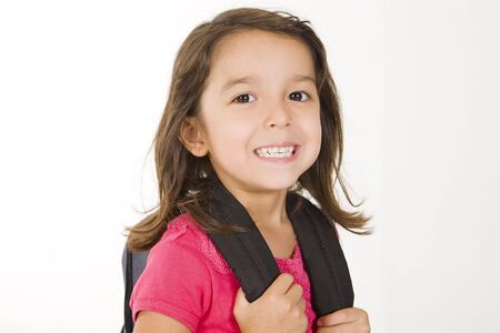 bookbag: Little girl with her book bag
