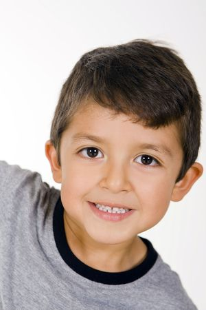Cute and happy little boy Stock Photo