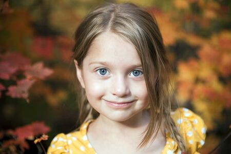 Portrait of a cute little girl outside Фото со стока - 7219364