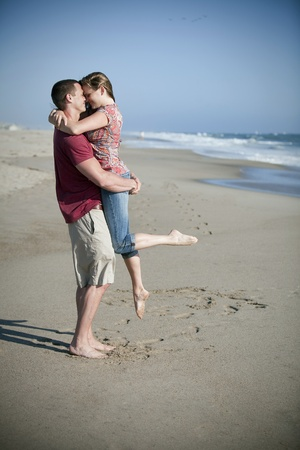 Loving couple at the beach