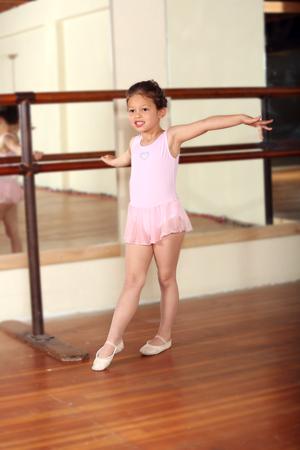 girlie: Cute little girl practicing her ballet