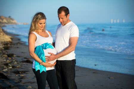 Loving couple expecting a baby