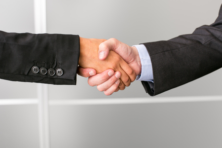 two hands: Two business people shaking hands