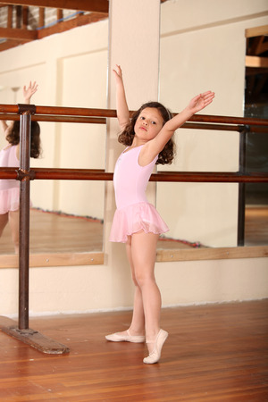 little girl dancing: Young little girl ballet dancing