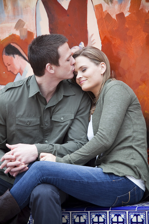Attractive young couple in love photo