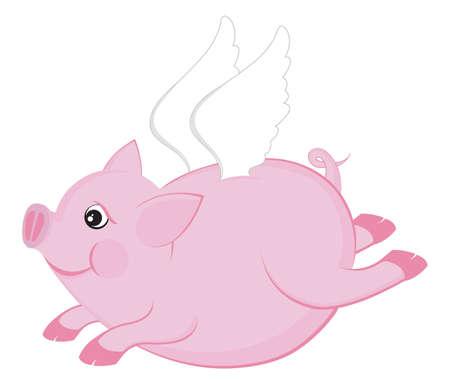 mosca caricatura: Cerdo volador