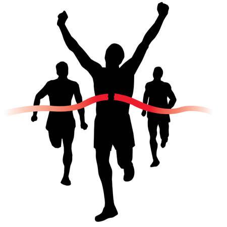 coureur: Runner gagne la course