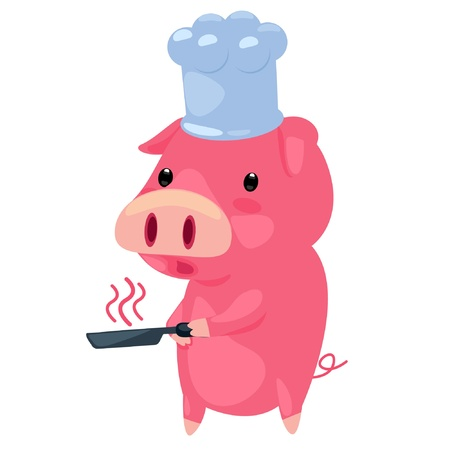 pig cooking  Vector
