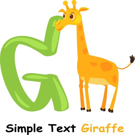 g giraffe: illustration abc Illustration