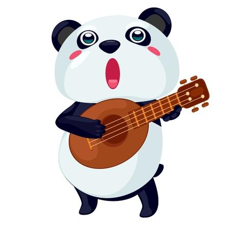 cheerful: panda vector