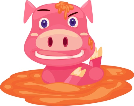 pig funny  Vector