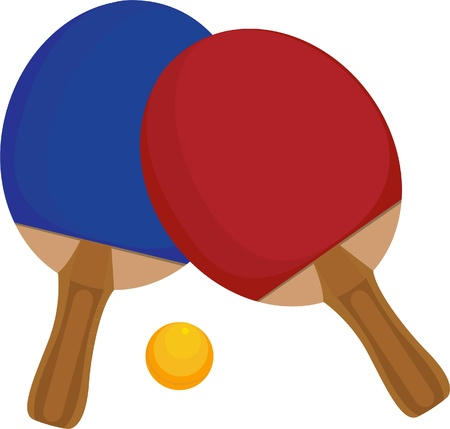 illustration table tennis  Vector