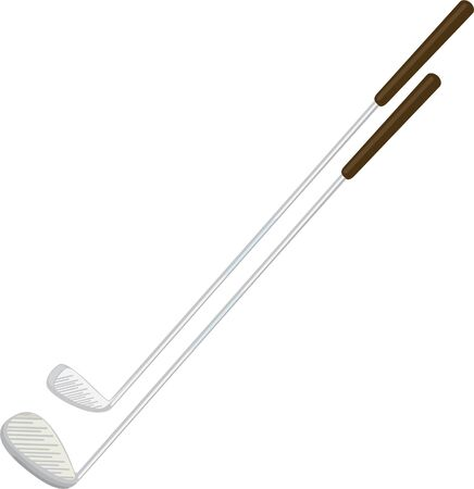 silver grass: illustration golf driver with silver shaft